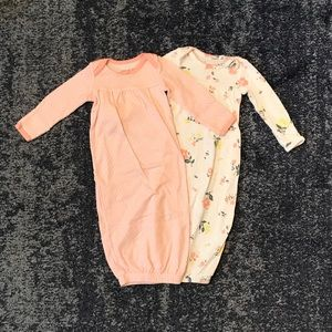 LIKE NEW!! Set of 2 - Baby Girls Sleep Sacks - OS